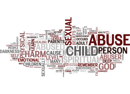 THE LEGACY OF SEXUAL ABUSE Text Background Word Cloud Concept