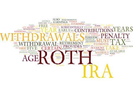 YOU RE ROTH IRA WITHDRAWAL Text Background Word Cloud Concept