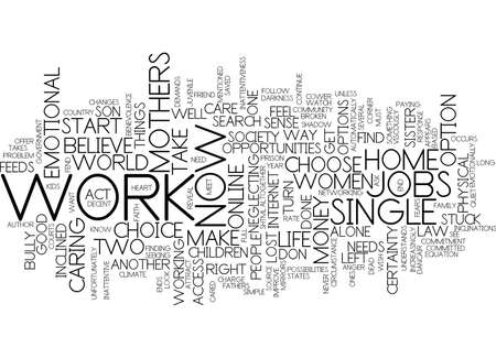 THE MOMMY MONEY PROBLEM Text Background Word Cloud Concept