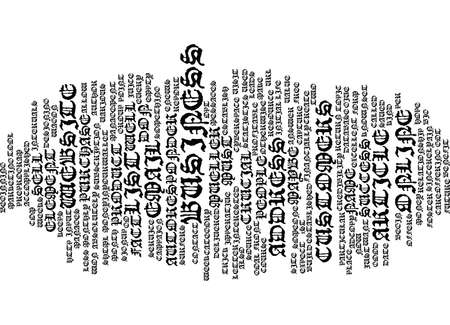 THE MOST CRUCIAL ELEMENT TO SUCCESS Text Background Word Cloud Concept