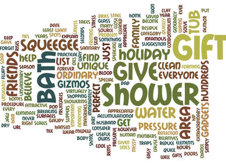 THE PERFECT UNIQUE HOLIDAY GIFT Text Background Word Cloud Concept