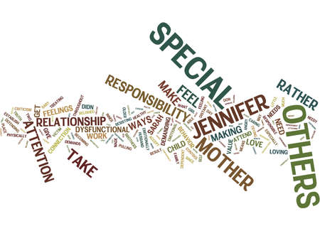 THE NEED TO FEEL SPECIAL Text Background Word Cloud Concept
