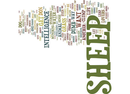 THE PROBLEM WITH SHEEP Text Background Word Cloud Concept Illustration