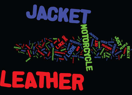 THE LEATHER JACKET I NOW LOVE Text Background Word Cloud Concept