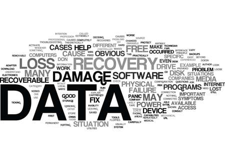YOU LOST YOUR DATA DON T PANIC Text Background Word Cloud Concept