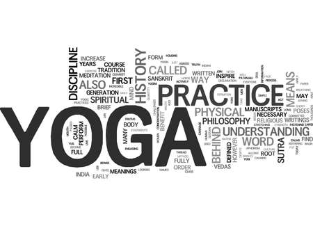 YOGA HISTORY Text Background Word Cloud Concept