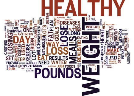 THE ONLY WAY TO LOSS WEIGHT IS THE HEALTHY WAY Text Background Word Cloud Concept