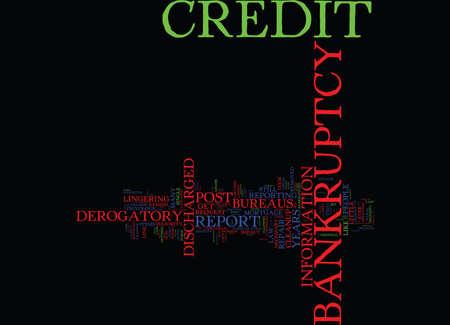 ポスト破産クリーンアップ テキスト背景単語雲概念の力