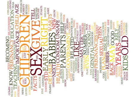 YEARS OLD AND PREGNANT Text Background Word Cloud Concept Illustration
