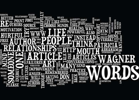 THE POWER OF HEALTHY WORDS Text Background Word Cloud Concept Illustration