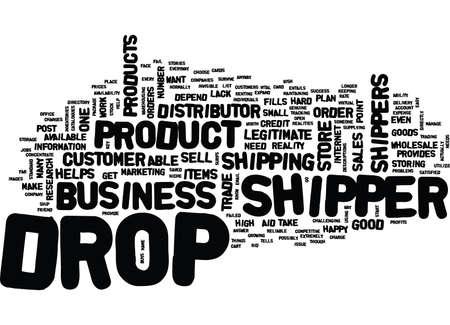 ドロップ荷送人どのように役立つビジネス テキスト背景単語雲の概念