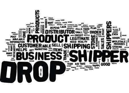 THE DROP SHIPPER HOW THEY HELP THE BUSINESS Text Background Word Cloud Concept Illustration