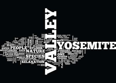 YOSEMITE VIEW LODGE Text Background Word Cloud Concept Illusztráció