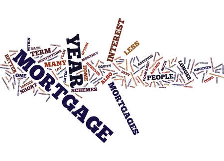 YEAR MORTGAGE Text Background Word Cloud Concept