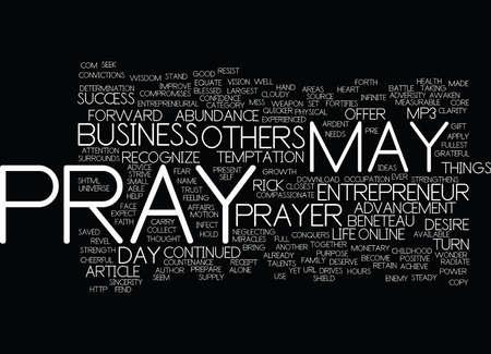 THE ENTREPRENEUR S PRAYER Text Background Word Cloud Concept