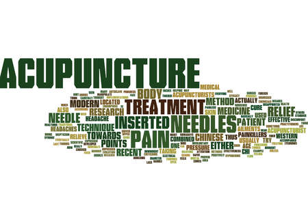 THE EFFECTIVENESS OF ACUPUNCTURE Text Background Word Cloud Concept
