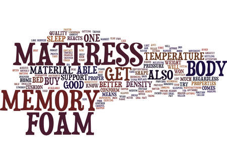 YOU SHOULD GET A MEMORY FOAM MATTRESS Text Background Word Cloud Concept Illustration