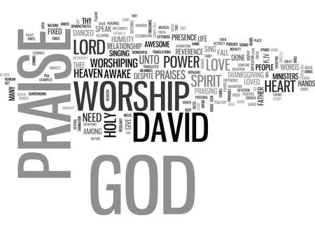 THE POWER OF WORSHIP Text Background Word Cloud Concept