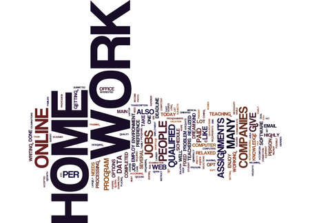 YOU ARE WELL QUALIFIED AND WOULD LIKE TO WORK FROM HOME Text Background Word Cloud Concept