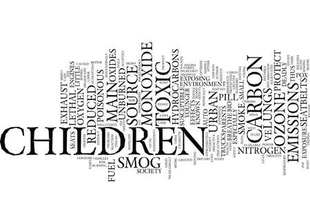 THE IRONY OF NON SMOKERS CARS AND CHILDREN Text Background Word Cloud Concept