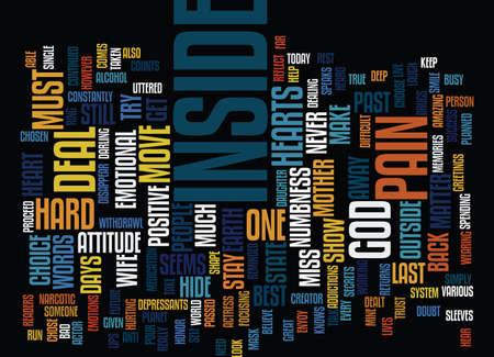DE BINNENKANT IS WAT TEGEN Tekstachtergrond Word Cloud Concept
