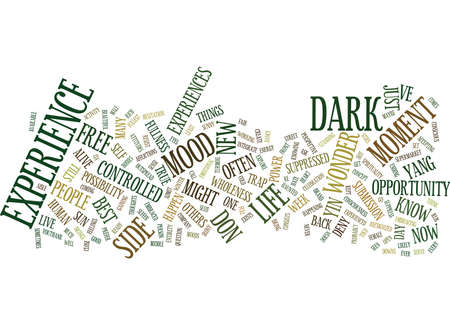 YIN YANG YOU Text Background Word Cloud Concept
