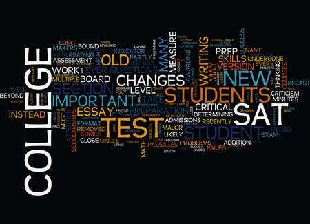 THE NEW SAT Text Background Word Cloud Concept Illustration