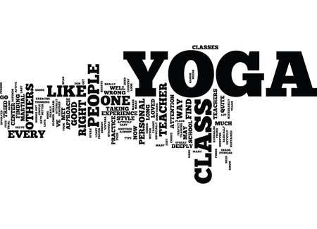 YOGA CLASS Text Hintergrund Word Cloud-Konzept