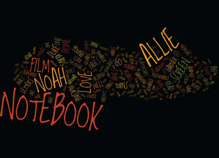 THE NOTEBOOK DVD REVIEW Text Background Word Cloud Concept 向量圖像