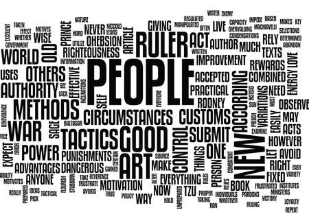 THE NEW ART OF WAR TACTICS AND POWER Text Background Word Cloud Concept