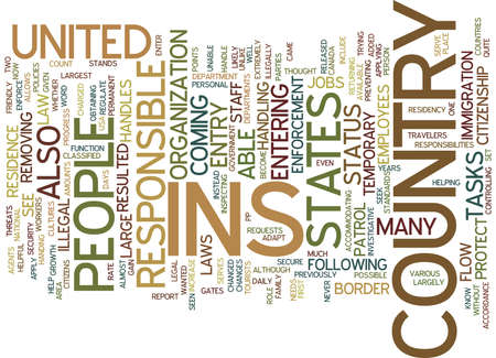 THE INS Text Background Word Cloud Concept