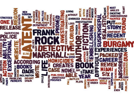 THE LATENT BOOK REVIEW Text Background Word Cloud Concept