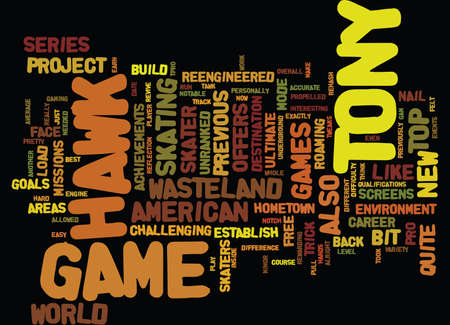 THE INSIDE TRACK ON TONY HAWK S PROJECT Text Background Word Cloud Concept