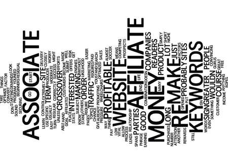 YOU AS AN ASSOCIATE AFFILIATE CAN CHANGE YOUR LIFE OR NOT Text Background Word Cloud Concept