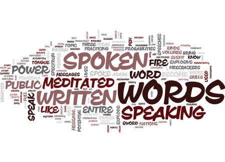 THE POWER OF THE SPOKEN WORD Text Background Word Cloud Concept Ilustrace