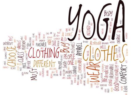 YOGA APPAREL Text Background Word Cloud Concept