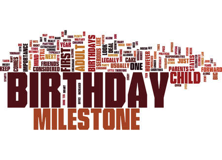 THE IMPORTANCE OF MILESTONE BIRTHDAYS Text Background Word Cloud Concept Illustration