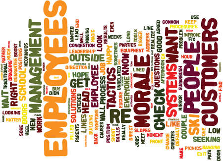 THE MORALE MYTH Text Background Word Cloud Concept Illustration