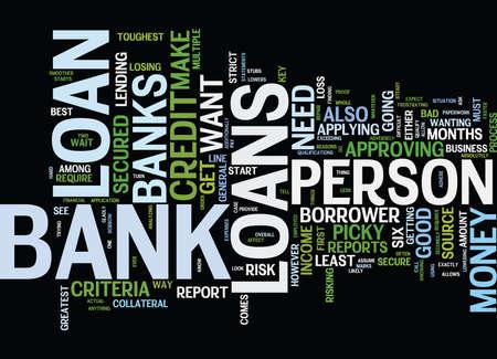 銀行融資本文背景単語雲概念への鍵  イラスト・ベクター素材