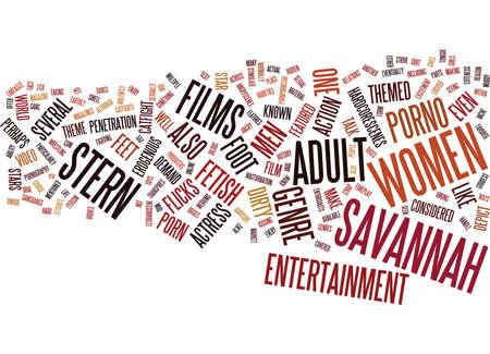 adult sex: THE PORNO GODDESS SAVANNAH STERN Text Background Word Cloud Concept