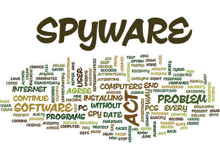 THE END OF SPYWARE Text Background Word Cloud Concept