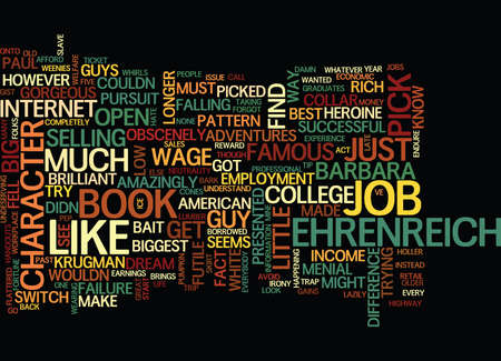 borrowed: THE JOYS OF FAME AND NO FORTUNE Text Background Word Cloud Concept Illustration