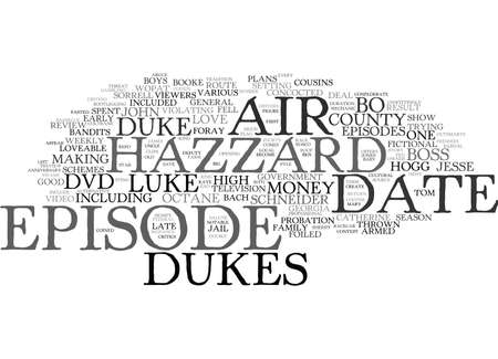 THE DUKES OF HAZZARD DVD REVIEW Text Background Word Cloud Concept