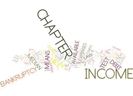THE NEW BANKRUPTCY LAW Text Background Word Cloud Concept