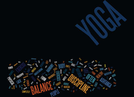 YOGA AS A LIFE PHILOSOPHY Text Background Word Cloud Concept