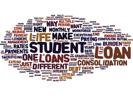 THE EASIEST WAY TO REDUCE THE BURDEN OF STUDENT LOAN DEBT Text Background Word Cloud Concept
