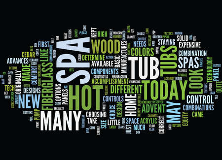 THE MAKE UP OF A SPA Text Background Word Cloud Concept