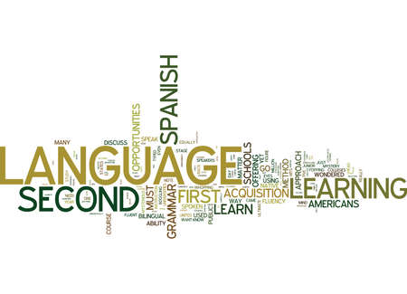 YOU CAN LEARN A SECOND LANGUAGE NO MATTER WHAT Text Background Word Cloud Concept Ilustração
