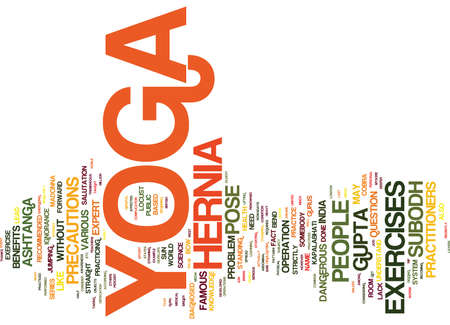 YOGA HERNIA AND MADONNA Text Background Word Cloud Concept