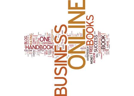 オンライン ビジネス ハンドブック必読オンライン起業家テキスト背景単語雲概念の  イラスト・ベクター素材